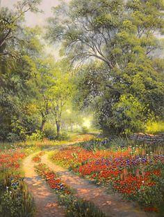 "Kay Walton ""Along The Old Boundary"", 40x30, $4,800.00 Frederickburg Art Gallery www.FbgArtGallery.com"