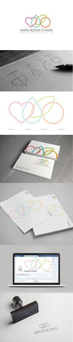 Maria Boesmi Nutritionist – Branding – María B … Business Logo Design, Corporate Design, Logo Inspiration, Fruit Logo, Grafik Design, Creative Logo, Identity Design, Logo Branding, Illustration