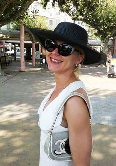 Hat: Vintage, Dress & shades: Valentino, Bag: Chanel