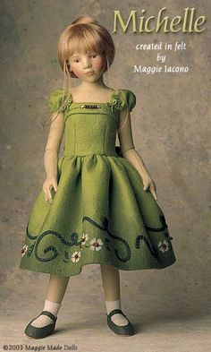 Michelle 16.5 Inch Tall Felt Doll Edition Size: 70 Created in 2002