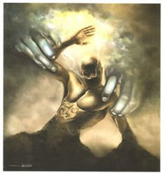 """""""Day One (The Creation of Man)"""" by Edwin Lester"""