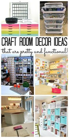 Craft room decor – ideas for a pretty and functional space you will love! Craft Room Decor – ideas for a beautiful and functional space that you will love! Craft Room Decor, Craft Room Design, Craft Room Storage, Craft Organization, Home Decor, Scrapbook Room Organization, Scrapbook Rooms, Bedroom Decor, Storage Ideas