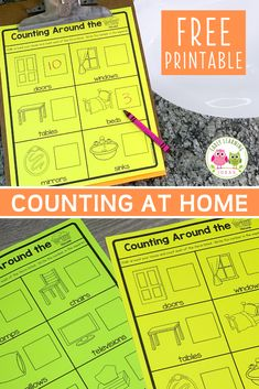 Counting activities can be fun and easy. Use these free printables to send your kids on a mission to count objects around your home. They will have a blast! Preschool Activities At Home, Counting Activities, Preschool Math, Hands On Activities, Number Activities, Quotes About Children Learning, Quotes For Kids, Early Math, Early Learning