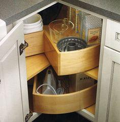 Corner Kitchen Cabinet Storage Ideas clever kitchen cabinet storage ideas | kitchen storage ideas