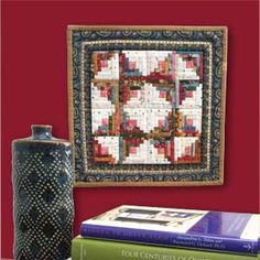 TINY CABIN Miniature Log Cabin quilt pattern Designed and machine quilted by…