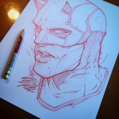Sketch! #daredevil #netflix #comics #marvel #devil #art #illustration #sketch #prismacolor #absorb81