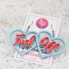Bright, fun and unique statement acrylic jewellery. Lovingly handmade in Dundee, Scotland. Plastic Earrings, Cute Earrings, Laser Cut Jewelry, Heart Locket Necklace, Rainbow Fashion, Kawaii Room, Baby Shower Invitations For Boys, Cute Jewelry, Spice Things Up