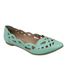 Look at this Restricted Mint Cutout Newbie Flat on #zulily today!