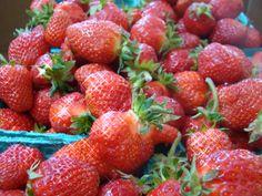 Fresh, red, ripe, juicy strawberries....made into Jam! mmmmm