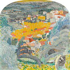 Pierre Bonnard, Vue du Cannet, vers 1927, huile sur toile, 233,6 x 233,6 cm