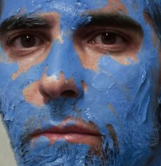 THIS IS NOT A PHOTOGRAPH! - Spanish painter Eloy Morales creates large hyperrealistic oil paintings of himself with smears of paint or shaving cream across his face. Eloy patiently works through tiny sections at a time, filling in paint and blending as he goes. The painting spreads slowly across the canvas rather than being built up from layers.