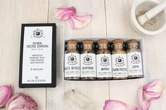 Sacred Scents • Starter Incense Resin Kit • Apothecary Gift Set • Frankincense, Myrrh, Copal, Opoponax, White Benzoin, Charcoal