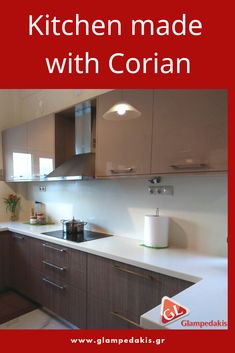 #Kitchen made with #corian at a #greek #house
