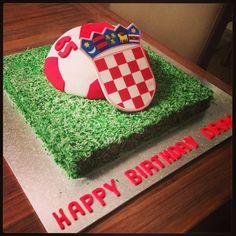 Soccer cake with Croatian Flag!