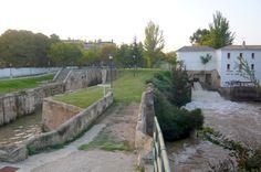 Zaragoza, Spain. Esclusas del Canal Imperial de Aragón en Casablanca