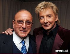 Clive Davis and Barry Manilow during Barry Manilow Backstage After His Performance at Madison Square Garden - January 18th, 2007 at Madison Square Garden in New York City, NY, United States. (Photo by Stephen Lovekin/WireImage for J Records)
