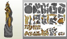Statue of Dibella (stone+gold) Pepakura by on DeviantArt Cardboard Sculpture, Cardboard Art, Paper Toys, Paper Crafts, Origami, Elder Scrolls Games, Silver Knight, Great Sword, Dragon Age Series