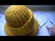 Вязание шапки английской резинкой по кругу ХОРОШАЯ МАКУШКА.Knitting hats British gum - YouTube