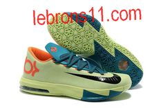 buy popular 0c417 42662 Kevin Durant 6 Aqua Green Orange Teal Navy Shoes