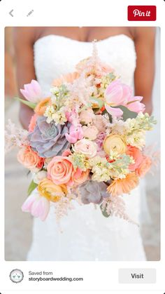 Bouquet in pastel colours.  One of Lynsey's favourite for texture.