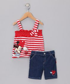 Take a look at this Red Minnie Tank Top & Shorts - Infant       by Disney Girls on #zulily today!
