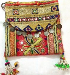 Beautiful Vintage Banjara clutch bag ethnic gypsy by ROYALEJAYPORE, $69.00