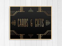 PRINTABLE Cards and Gifts Wedding Sign // Gatsby by Foxbairn