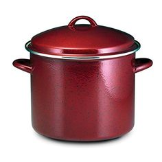 Paula Deen Signature Enamel on Steel 12-quart Red Speckle Covered Stockpot ** Check out this great product.