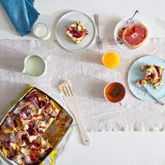Raspberry Goat Cheese Breakfast Strata