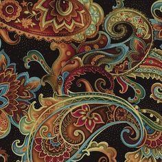 Timeless Treasures Fashion Bellagio Floral Paisley