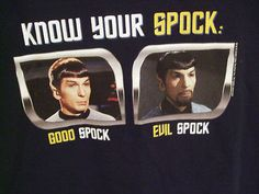 Good Spock- Evil Spock