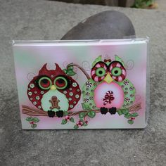 Christmas Owl Greeting Cards 5 Pack Owl Card  by concettasdesigns