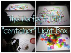 Light table and light play ideas. Sensory play, messy play, fine motor ideas, Reggio, Montessori, Homeschooling, Twins, The Ultimate Light Table Guide