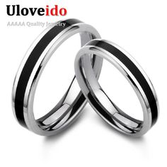 Find More Rings Information about Round Black Enamel 925 Sterling Silver Ring Fashion Engagement Couple Rings for Women Bridal Wedding Decoration 2015 Ulove J056,High Quality ring beer,China ring packaging Suppliers, Cheap ring pet from Ulovestore Jewelry on Aliexpress.com