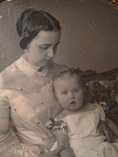 1850s Motherhood Blessed Art Thou Among Women Beautiful Young Mom Baby 1 6   eBay