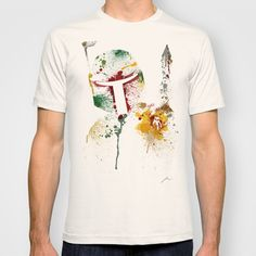Star Wars paint splatter: Boba Fett T-shirt by Arian Noveir - $18.00  I could get used to these designs...