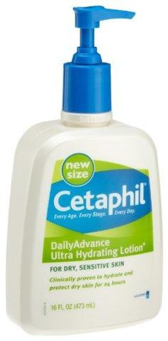Cetaphil Daily Advance Ultra Hydrating Lotion***Size: 16fl oz..Cetaphil Daily Advance is specially formulated to provide everyday intense moisture for extra dry sensitive skin.,Fragrance Free, Non Greasy.,Use daily for optimal hydration. Apply liberally as often as needed.,.