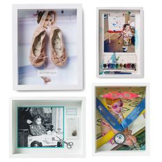 Memory Shadow Boxes: Celebrate the special moments by creating unique shadow boxes for portraits, books, tickets, crafts, and your kids' favorite hobbies. Not sure where to start? Get inspired by Darcy Miller's shadow boxes from Martha Stewart Living.