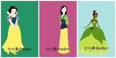 Decorate your kid's walls with these strikingly minimalist posters. | 26 Ideas For The Ultimate Disney Princess Bedroom