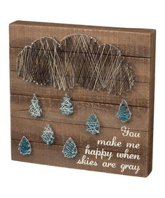 Another great find on #zulily! 'You Make Me Happy' String Art Wall Décor #zulilyfinds