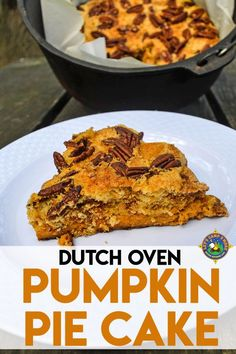 Dutch Oven Pumpkin Pie Cake Recipe - Do you love pumpkin? Looking for a great camping dessert recipe? Create this Pumpkin Pie Cake Recipe in the Dutch Oven. It's easy to make at home or camping. Camping Desserts, Camping Meals, Fun Desserts, Camping Recipes, Camping Dishes, Backpacking Recipes, Dessert Recipes, Easter Desserts, Camping Cooking