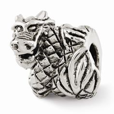 Sterling Silver Reflections Dragon Bead