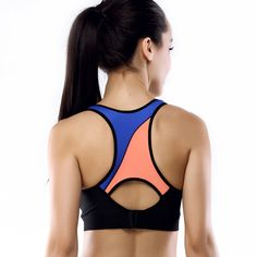 Yvette Criss Cross Sports Bra with Removable Pads High Impact Intense Activities
