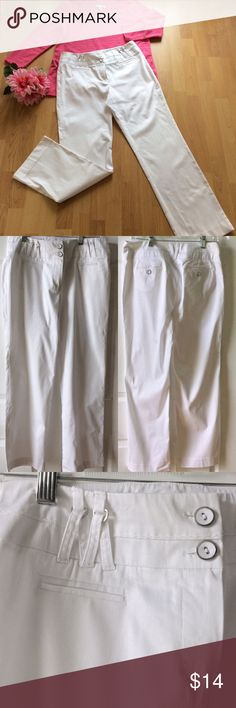 "New Directions Pants Size 10P NWOT New Directions Pants Size 10P NWOT - Color:  White, Measurements: Waist 30""/Hips 40""/Inseam 28""/Length 39"" from top of Pants.  Never worn.  Machine washable. New Directions Pants Straight Leg"