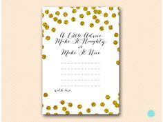 Gold Glitter Bridal Shower Games Advice for by MagicalPrintable #babyshowerideas4u #birthdayparty  #babyshowerdecorations  #bridalshower  #bridalshowerideas #babyshowergames #bridalshowergame  #bridalshowerfavors  #bridalshowercakes  #babyshowerfavors  #babyshowercakes
