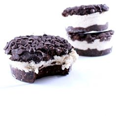 I have been craving our Oreo Ice Cream Sandwiches all week.... #vegan #dairyfree #highfiber #glutenfree grab the #recipe on my app -  The Healthy Rebel App - 300 Secretly healthy delicious mouth-watering dessert & treat recipes all made with all-natural whole food ingredients.  www.HealthyRebel.com #HealthyRebel