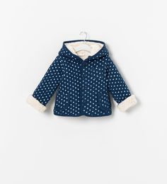 Image 1 of POLKA DOT JACKET WITH SHEEPSKIN LINING from Zara