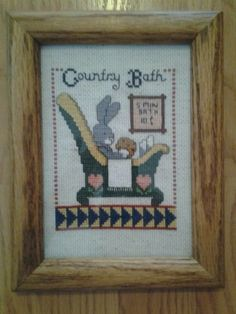 Country bath bunny. 5X7
