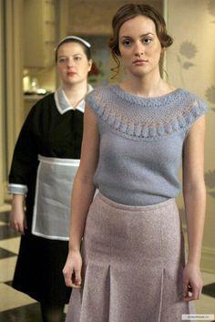"Leighton Meester as Blair Waldorf and Zuzanna Szadkowski as Dorota Kishlovsky ""Remains of the J"""
