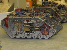 Older but still nicely painted Grey Knights landraider